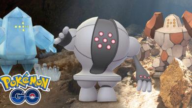 Pokémon GO trae de vuelta a Regirock, Registeel y Regice, pero solo brevemente