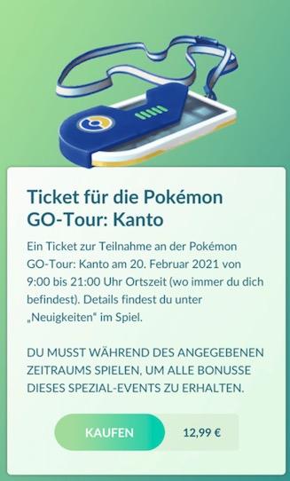Tour de entradas para Pokémon Go
