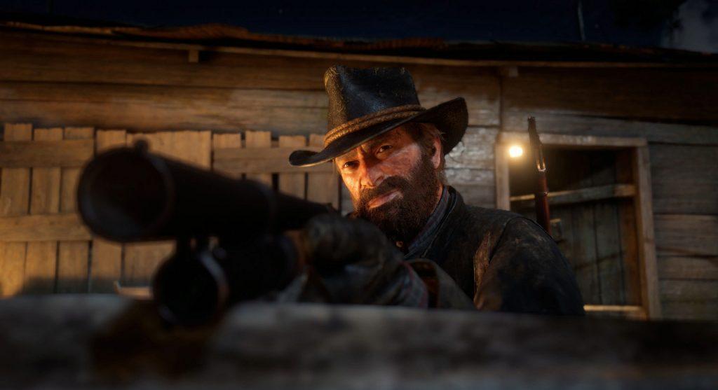 Red Dead Redemption 2 modo foto Arthur shotgun