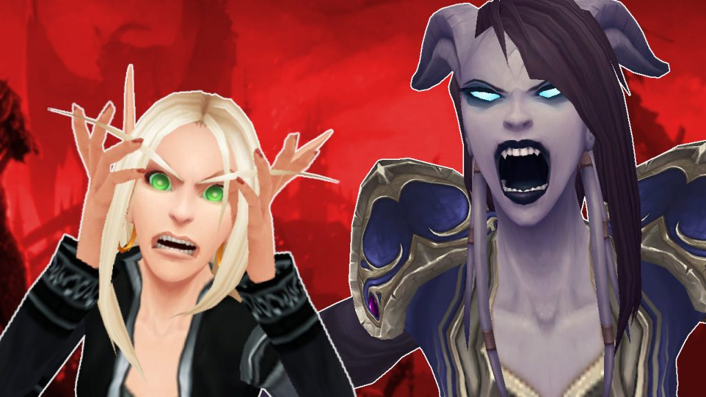 WoW Angry Blood Elf Draenei título título 1280x720