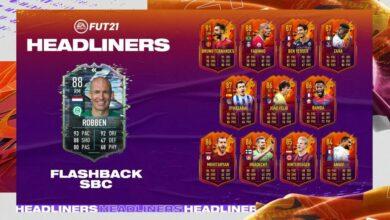 FIFA 21: SBC Arjen Robben Flashback Era - Requisitos y soluciones
