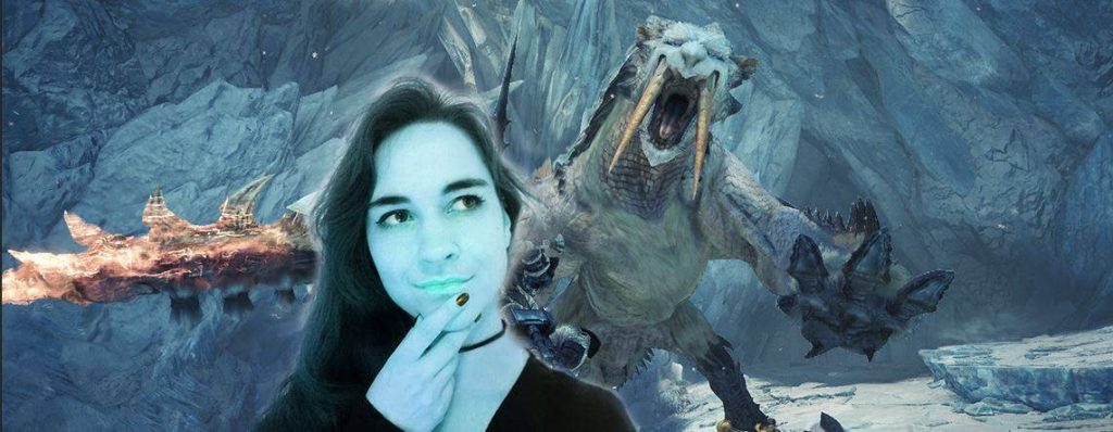 Monster Hunter World Iceborne con una Leya azul