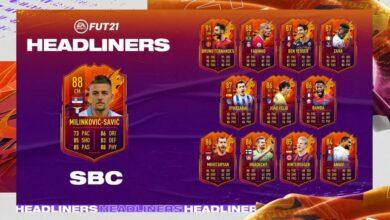 FIFA 21: SBC Sergej Milinkovic-Savic HeadLiners - Requisitos y soluciones