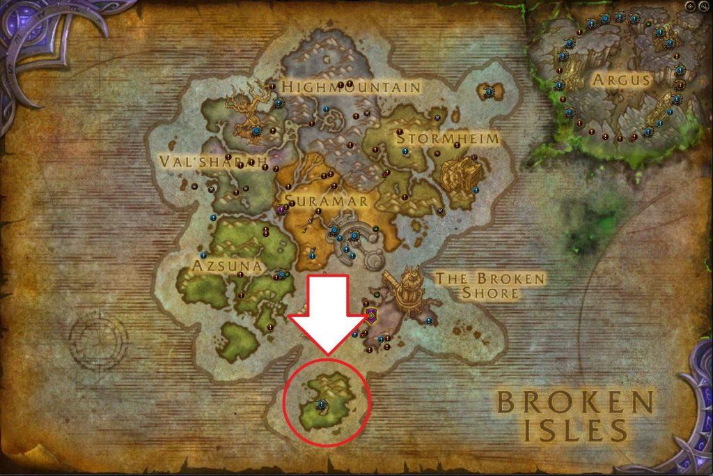 wow morador de las profundidades legión mapa ojo de azshara