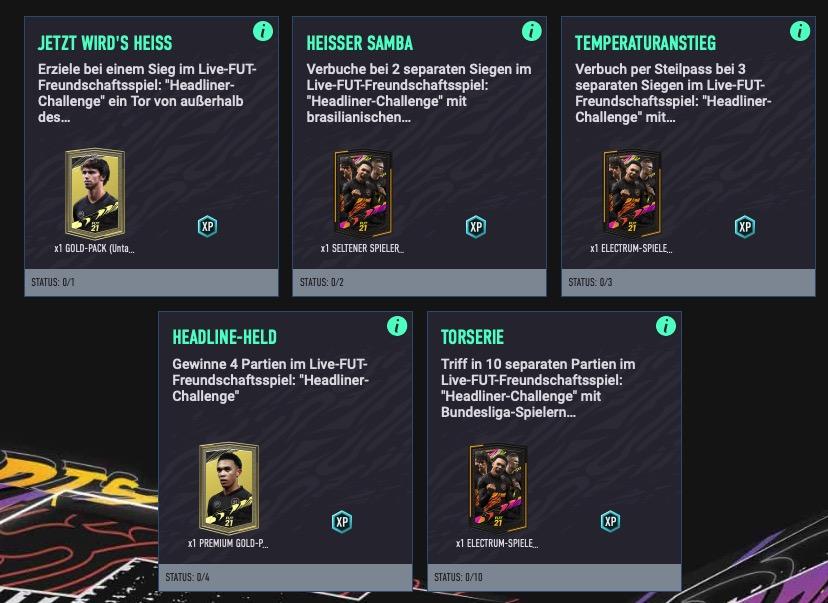 Misiones de FIFA 21 Cunha
