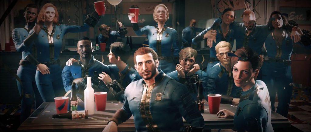 Fallout 76 animando a la gente