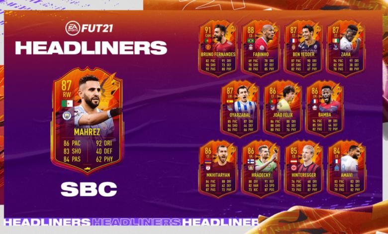 FIFA 21: HeadLiners de SBC Riyad Mahrez - Requisitos y soluciones
