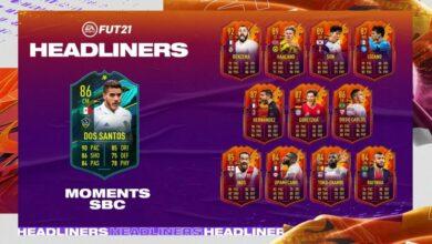 FIFA 21: SBC Jonathan dos Santos Moments - Requisitos y soluciones