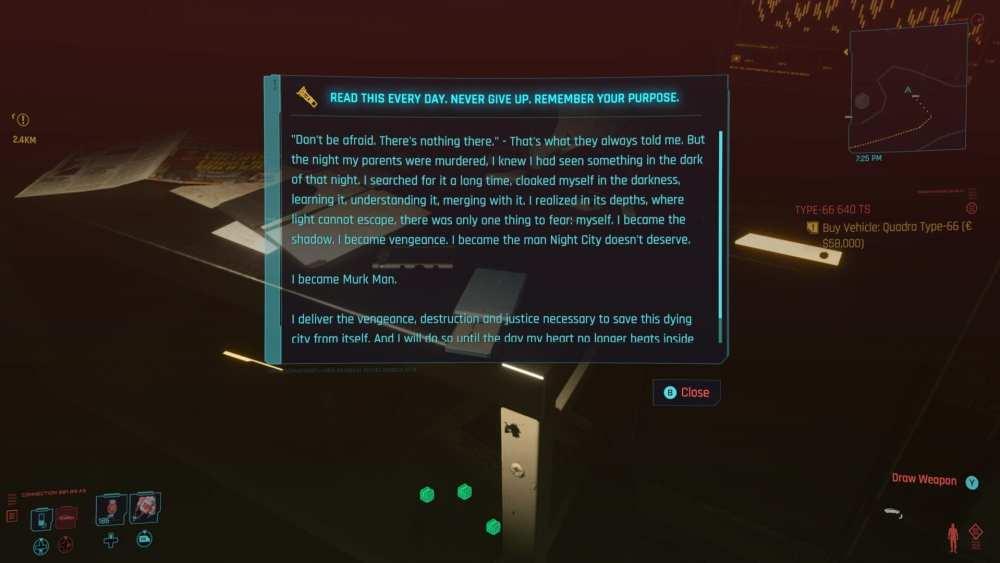 Cyberpunk 2077 batmobile huevo de pascua