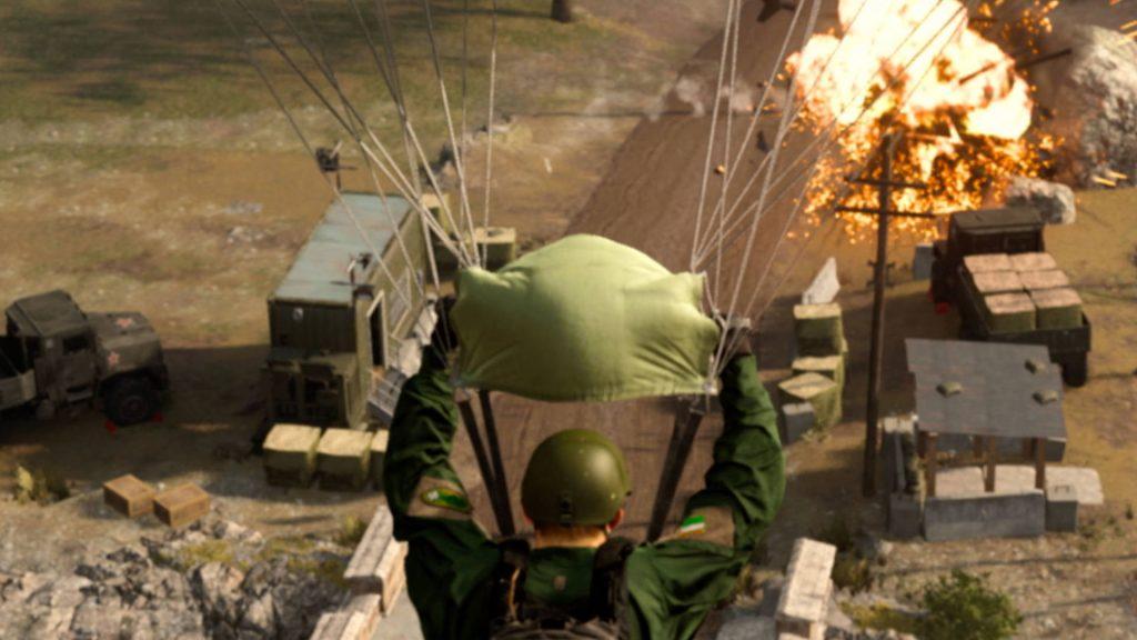 bacalao zona de guerra paracaídas paracaídas