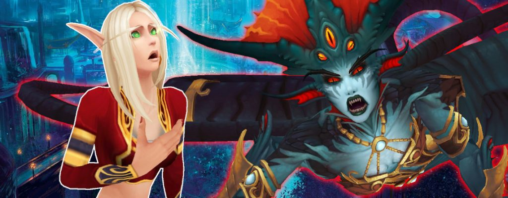 WoW Blood Elf Shocked Azshara título 1140x445