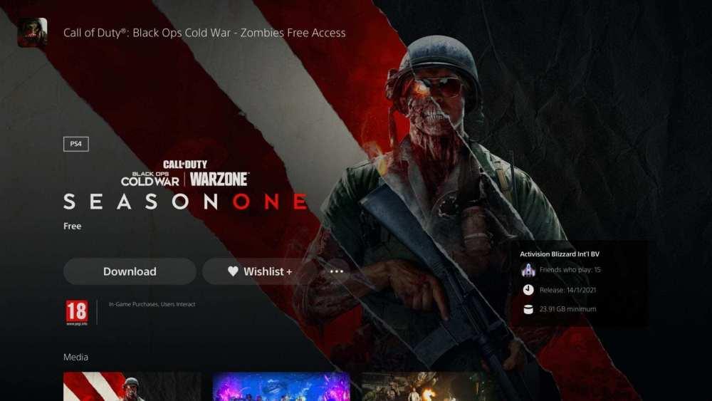 prueba gratuita de black ops cold war zombies