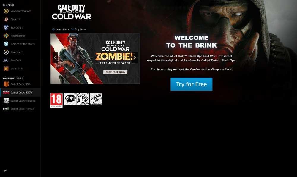 Descargar Black Ops Cold War Zombies Free Access en PC