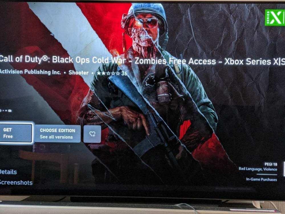 Descargar Black Ops Cold War Zombies Free Access en Xbox
