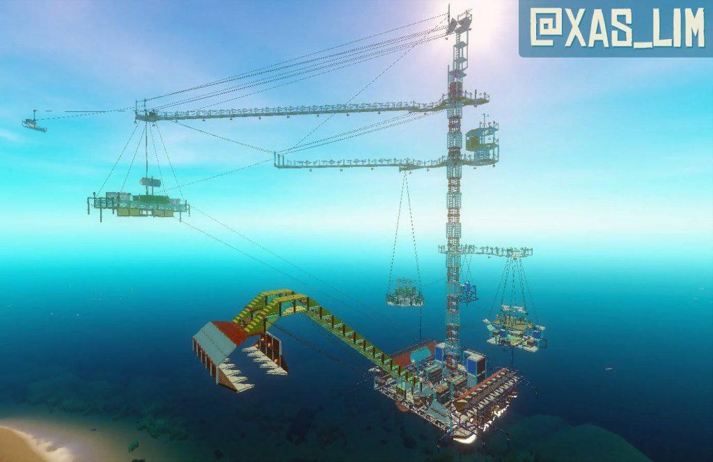 competencia de construcción de balsa grúa gigante