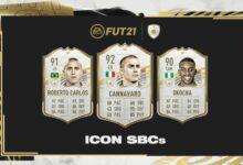 FIFA 21: Roberto Carlos, Fabio Cannavaro y Okocha SBC Icons disponibles