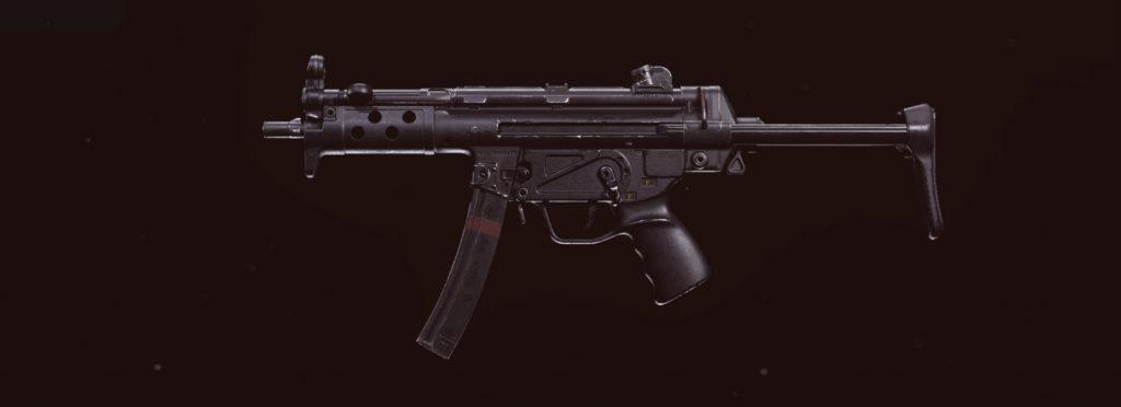 zona de guerra de bacalao armas fuertes de la guerra fría MP5
