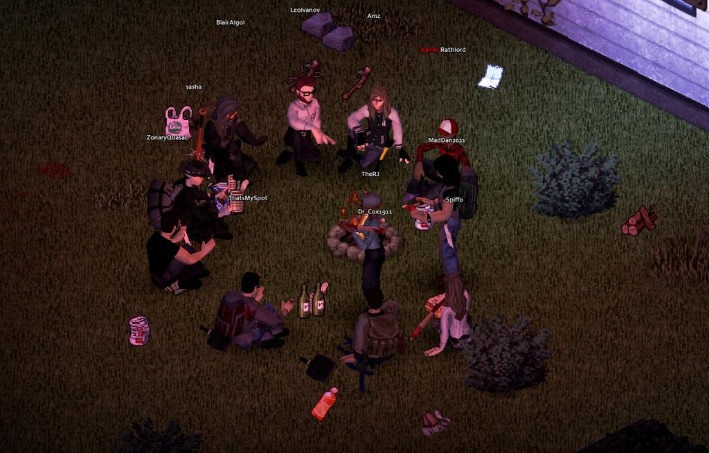 los grupos del proyecto zomboid se encuentran