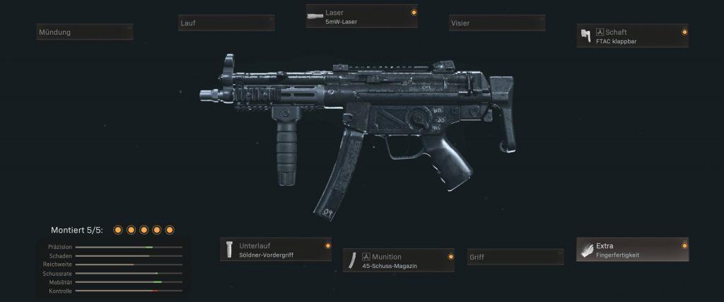 cod warzone armas mejor sugerencia de configuración MPs mp5