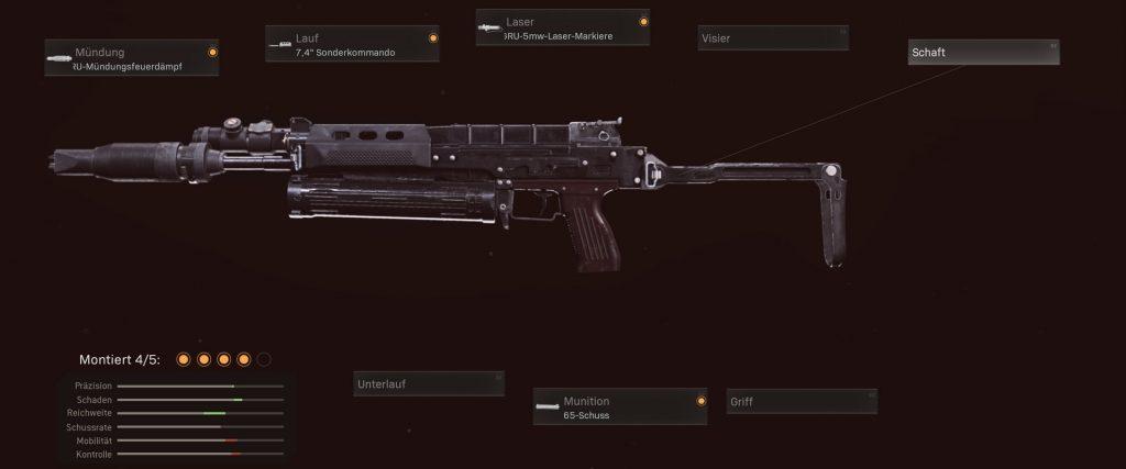 armas de zona de guerra de bacalao mejores MPs sugerencia de configuración de rana toro de la guerra fría