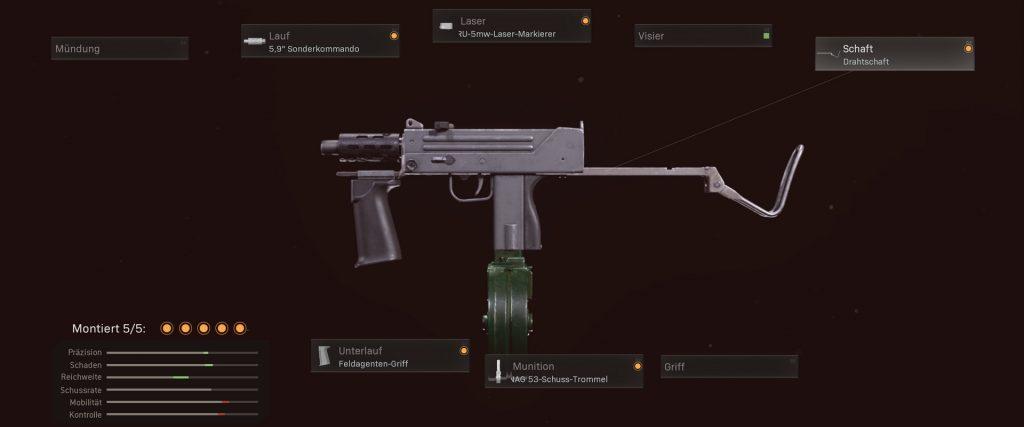 armas de la zona de guerra de bacalao mejores MPs propuesta de configuración MAC-10 de la guerra fría