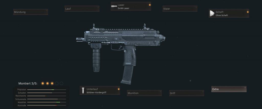cod warzone armas mejor sugerencia de configuración MPs mp7