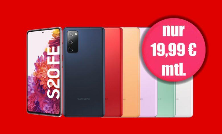 Galaxy S20 FE con tarifa actualmente tan barata como sin MediaMarkt
