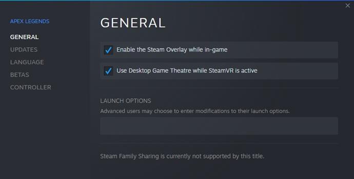 Apex Legends - Opciones de lanzamiento de Steam [Updated 2021]