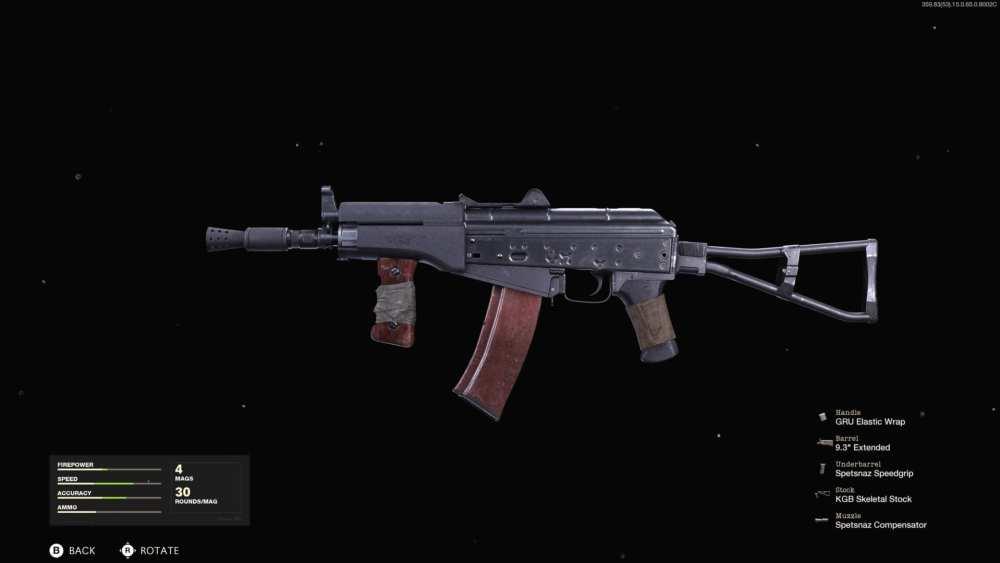mejor carga multijugador de la guerra fría ak74u