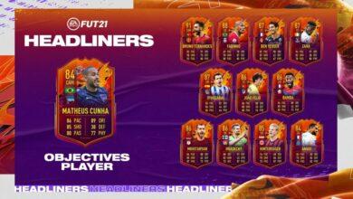 FIFA 21: Matheus Cunha HeadLiners Objetivos - Requisitos