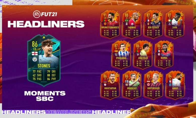 FIFA 21: SBC John Stones Moments - Requisitos y soluciones