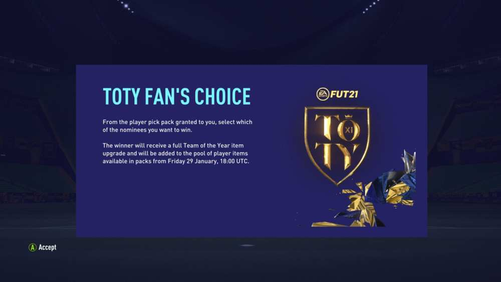 FIFA 21 en la duodécima votación masculina