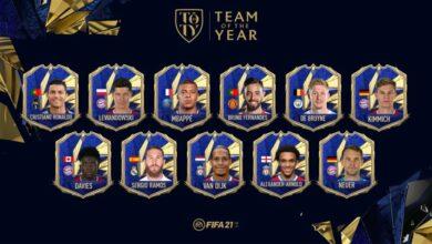 FIFA 21: TOTY - Equipo del año revelado