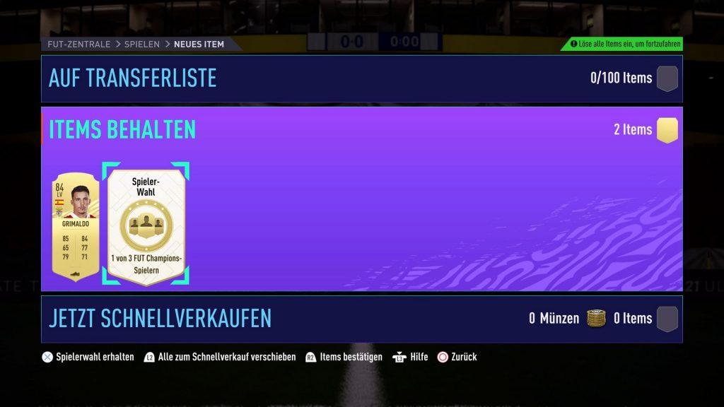 Recompensa de FIFA 21 FUT Champions