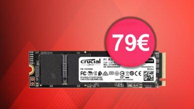 Fast SSD Crucial P1 justo por encima del mejor precio y más en Amazon