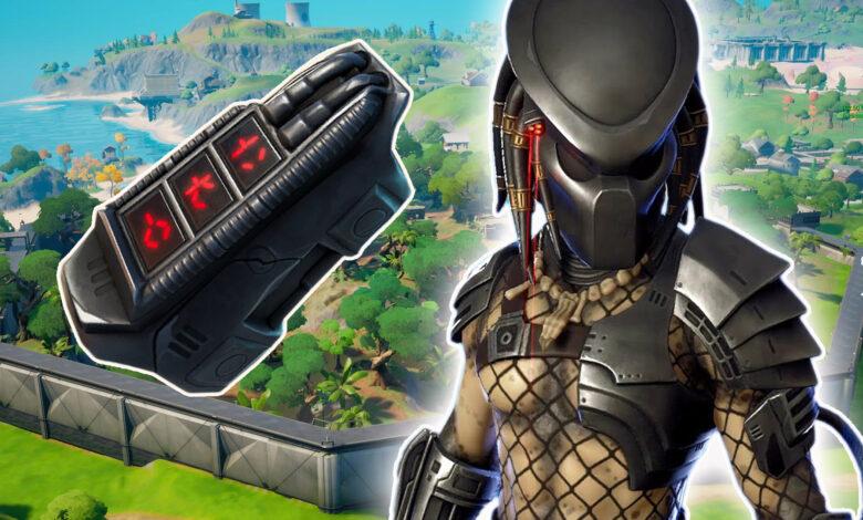 Fortnite: Entonces encuentras y derrotas al Predator en el mapa.