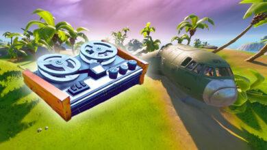 Fortnite: encuentra la caja negra del avión estrellado - ubicación