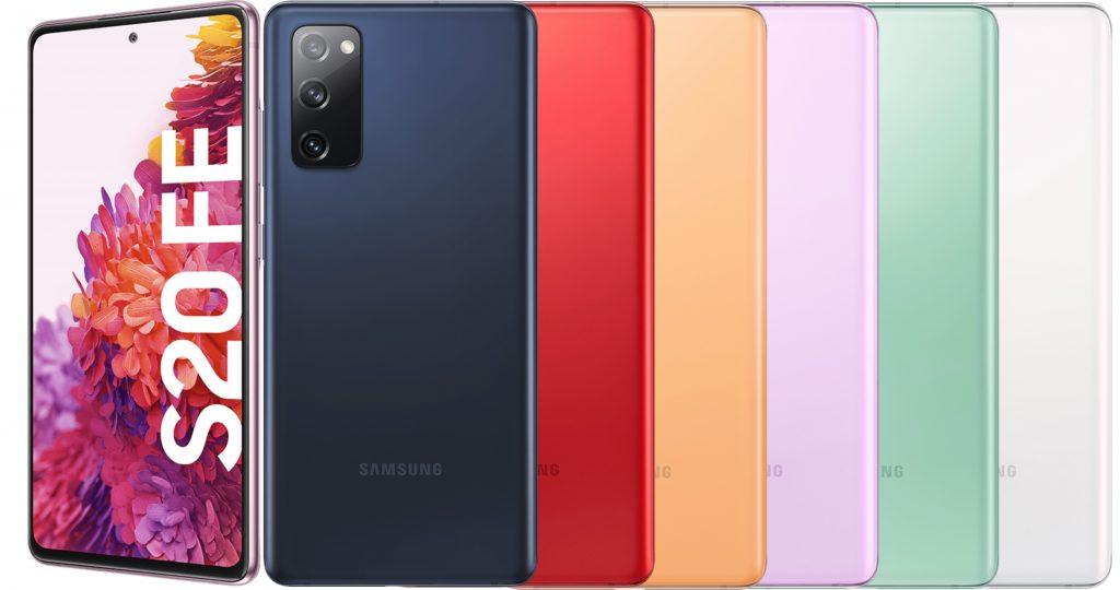 Galaxy S20 FE en diferentes colores