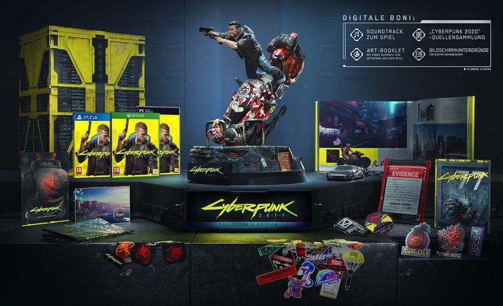 Contenido de Cyberpunk Collectors Edition Vuelve a intentarlo
