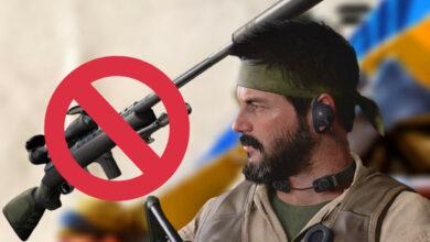 Los profesionales se prohíben los rifles de francotirador porque CoD Cold War está roto