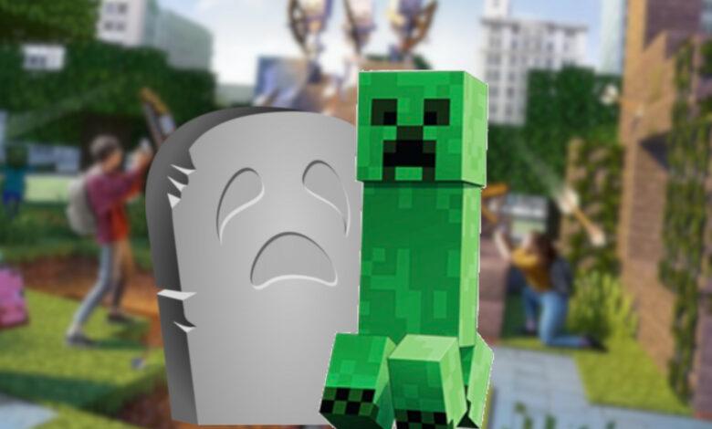 Minecraft Earth solo sobrevivió un poco más de un año, se retirará en 2021
