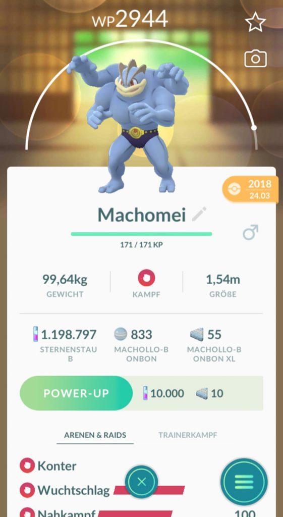 Pokémon GO caramelo macho