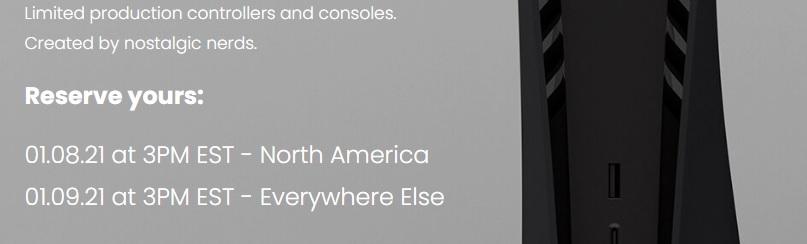 Tiempo de venta de PS5 negro