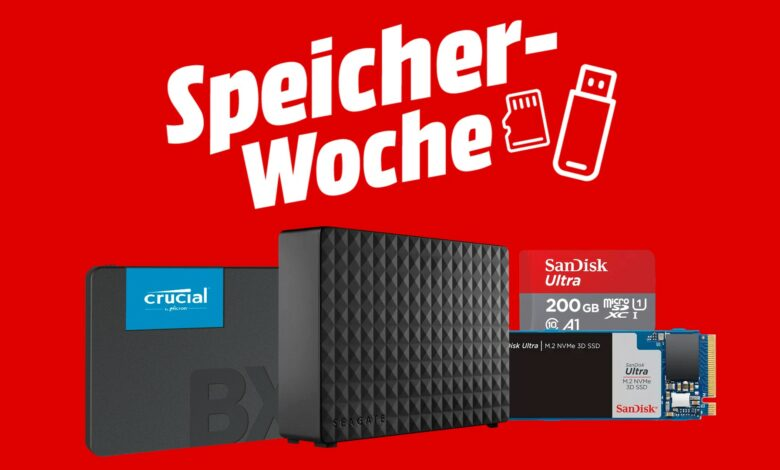SSD, HDD externos y más reducido: semana de almacenamiento en MediaMarkt