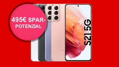 Samsung Galaxy S21 con 40 GB LTE en la oferta de tarifa en MediaMarkt