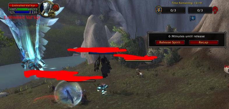 WoW Valkyr en el campo de batalla