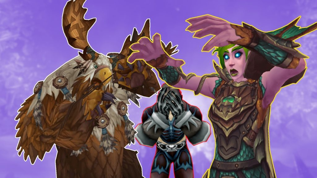 Título de WoW Shadowlands DK Hunter Druid Nerf