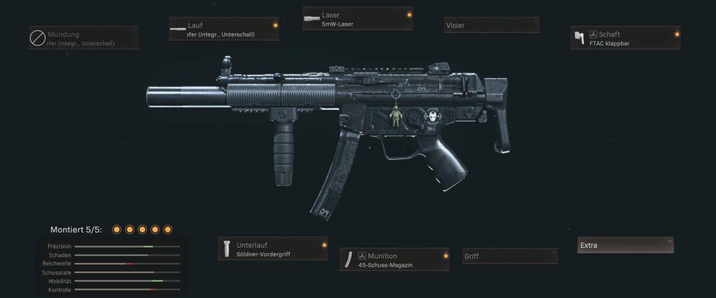 Cod warzone armas más populares con configuraciones de enero de 2021 - MP5 cod mw