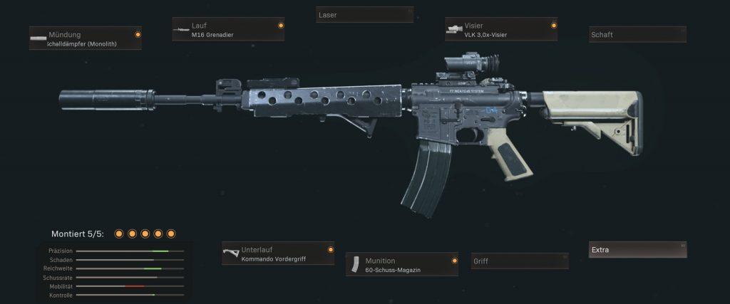 Cod warzone armas más populares con configuraciones de enero de 2021 - m4a1