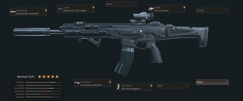 pistolas más populares de la zona de guerra de bacalao con configuraciones de enero de 2021 - kilo 141